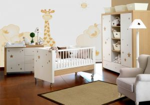 Cunas para bebes y cuartos a la moda